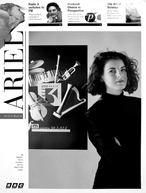 23 years old on the cover of BBC Ariel with my work for the Radio 3 brand